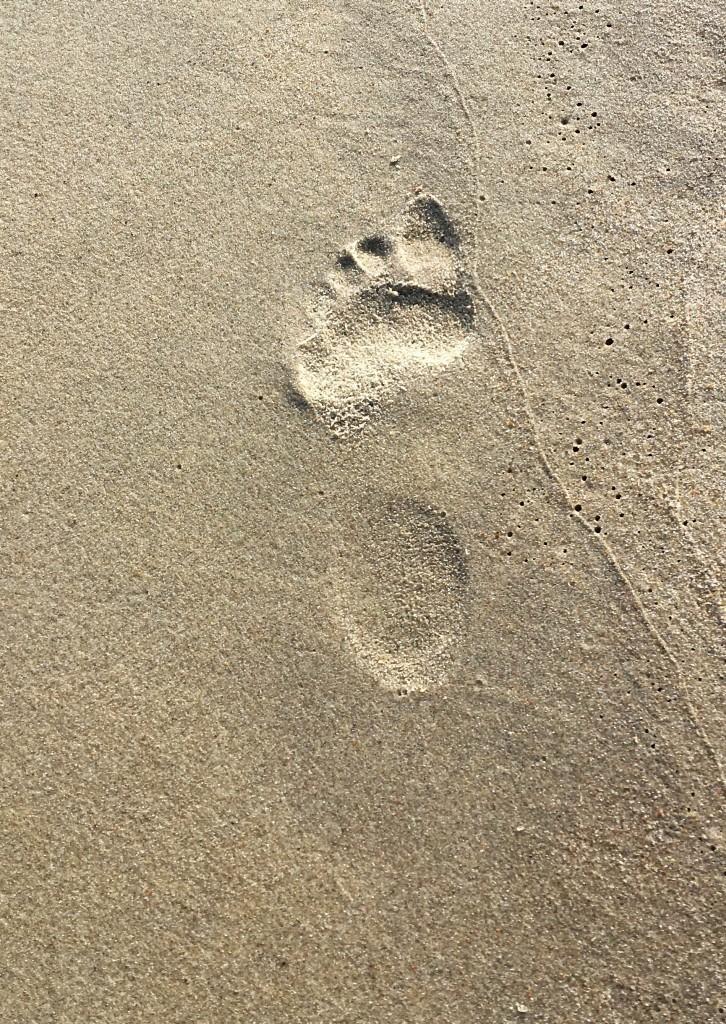Krynicka Morska Strand Fußabdruck