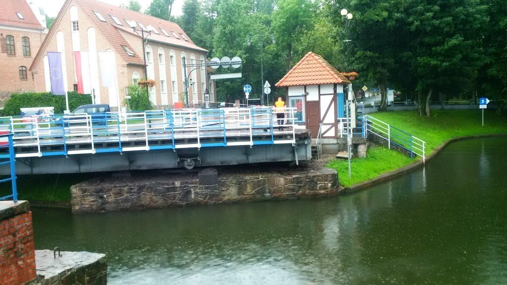 Masuren, Gizycko Kanal Drehbrücke1